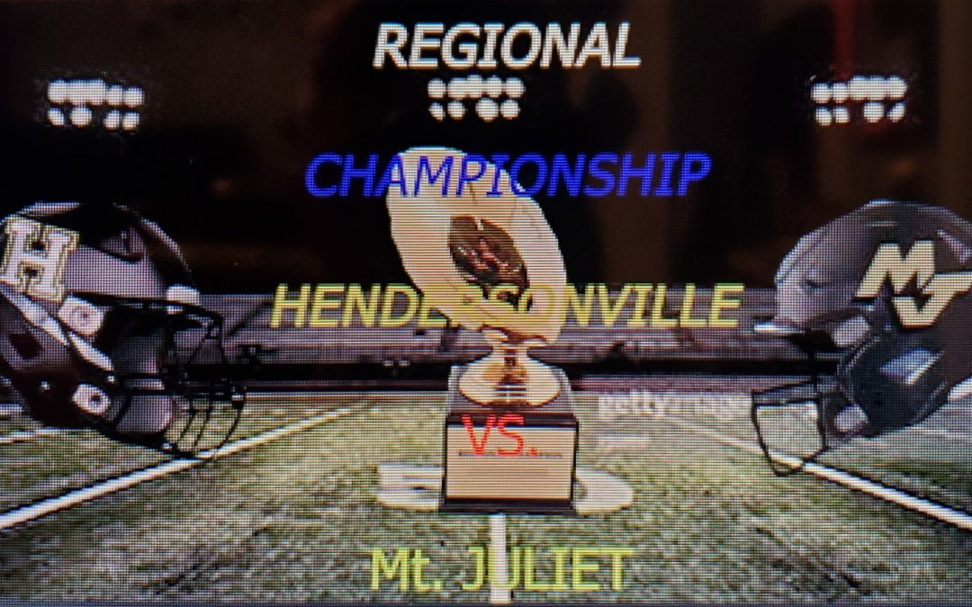 Article for District 6A Regional Championship Game
